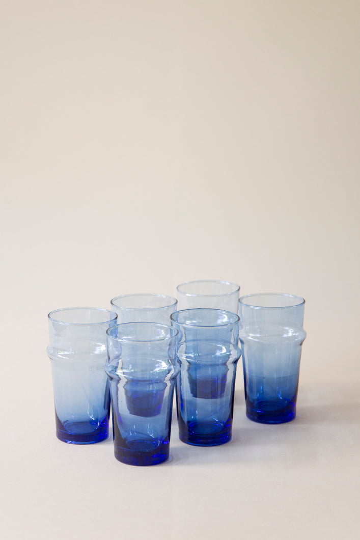 Beldi Glass - Traditional Blue