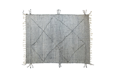 Black and White Contemporary Flatweave Kilim Rug