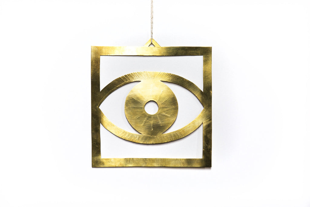 Brass Evil Eye Wall Hanging