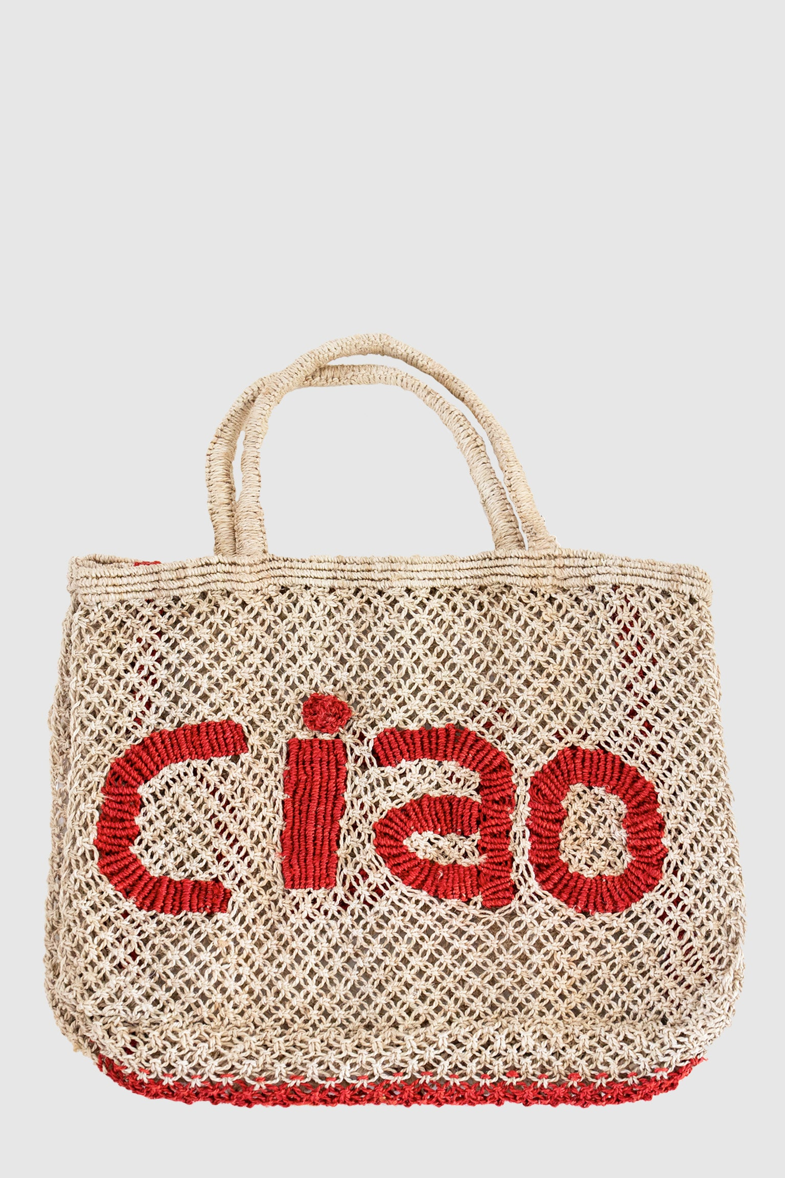 Ciao Jute Bag - Nat/Red
