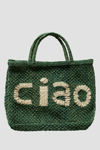 Ciao Jute Bag - Green/Nat