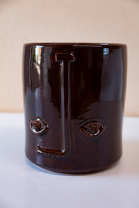 Italian Face Vase - Chocolate