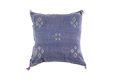 Cactus Silk Cushion Blue Berber Symbols
