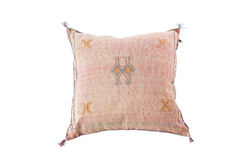 Cactus Silk Cushion Pink Moroccan