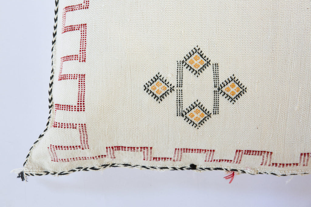 Cactus Silk Cushion Ivory Moroccan