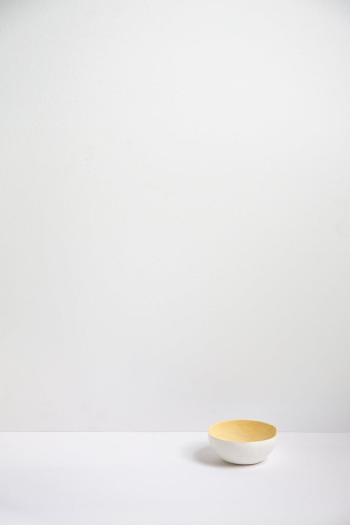 Lemon Wood Bowl - White 10cm