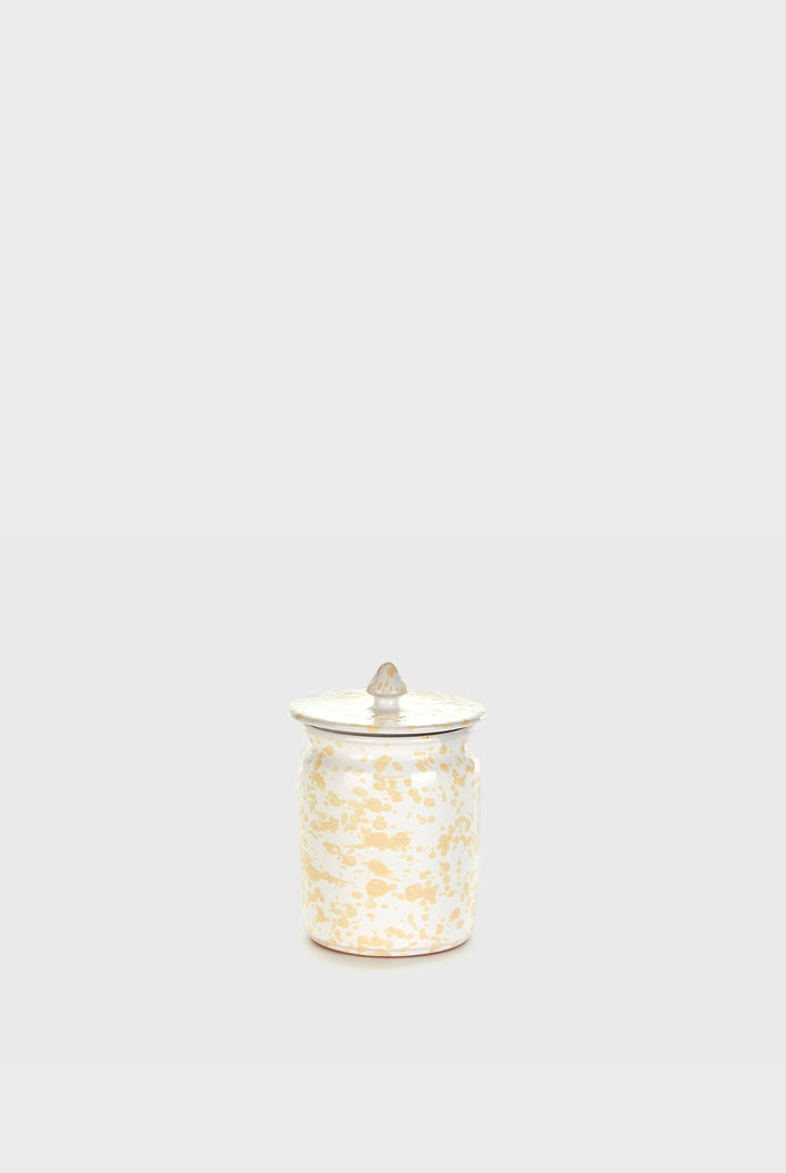 Jar with Lid - White/Cream