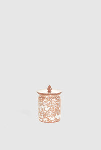 Jar with Lid - Terracotta/White