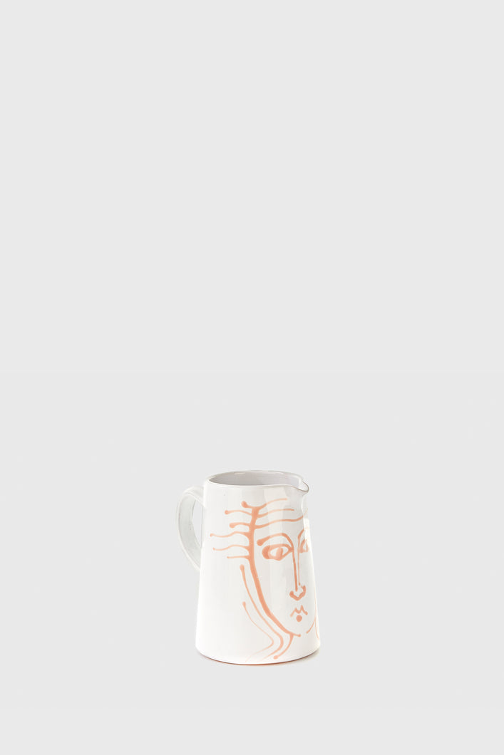 Water Pitcher 1L - White Face