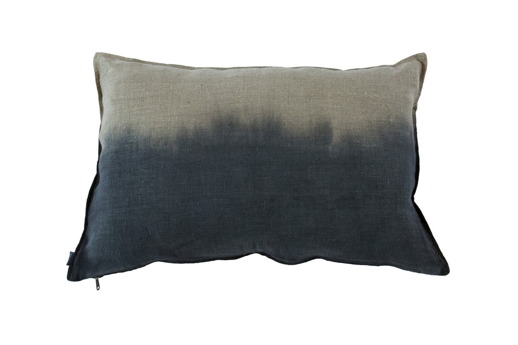 Dip-Dyed Linen Cushion