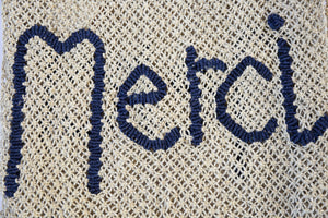 Merci Jute Bag - Nat/Indigo