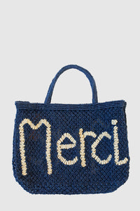 Merci Jute Bag - Indigo/Nat