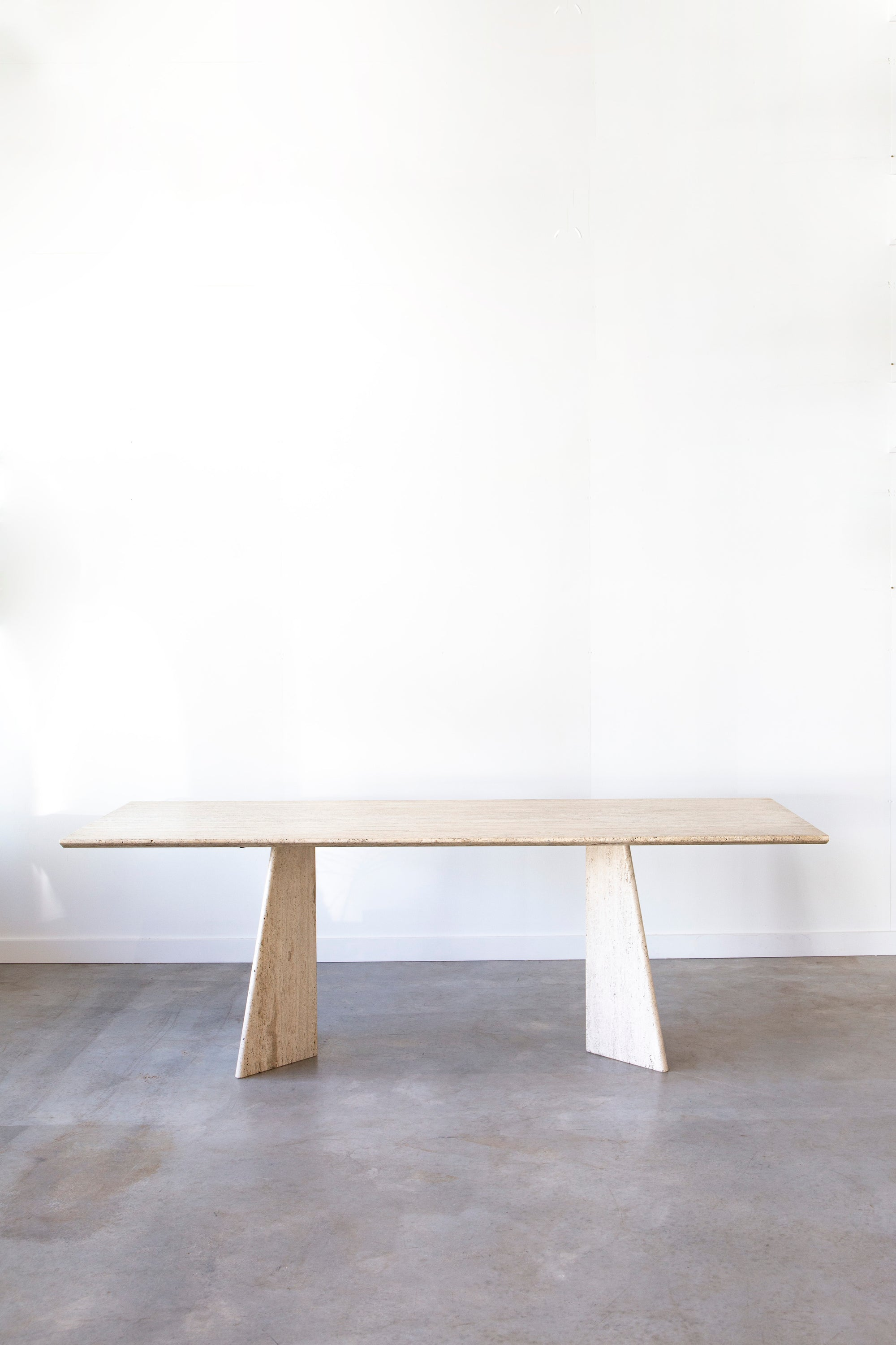 Vintage Italian Travertine Dining Table