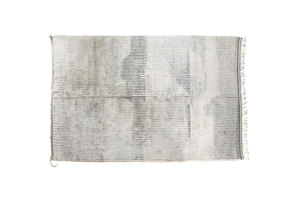 Moroccan Area Rug Grey Ivory