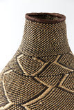 African Nongo Basket Pot Shaped Geometric