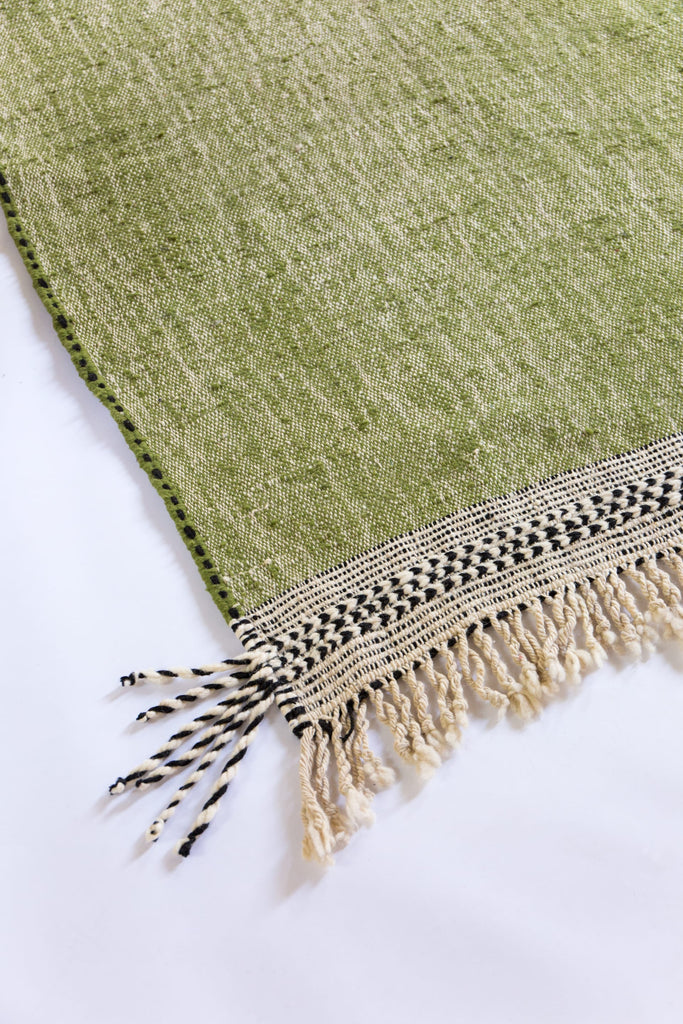Olive Green Contemporary Flatweave Kilim Rug