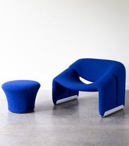 Pierre Paulin Groovy Chair + Stool