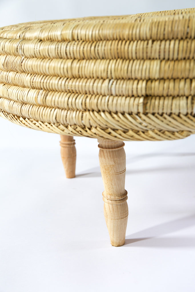Rattan & Timber Table - Large