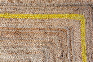 Scalloped Jute - Yellow