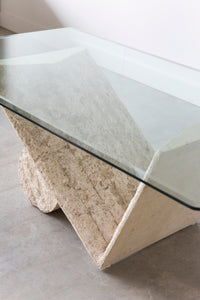 Glass Top Retro Coffee Table