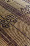Tuareg Mat Rug Reed and Leather
