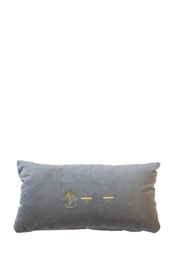 Velvet Cushion - Grey Small