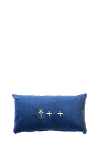 Velvet Cushion - Navy Small