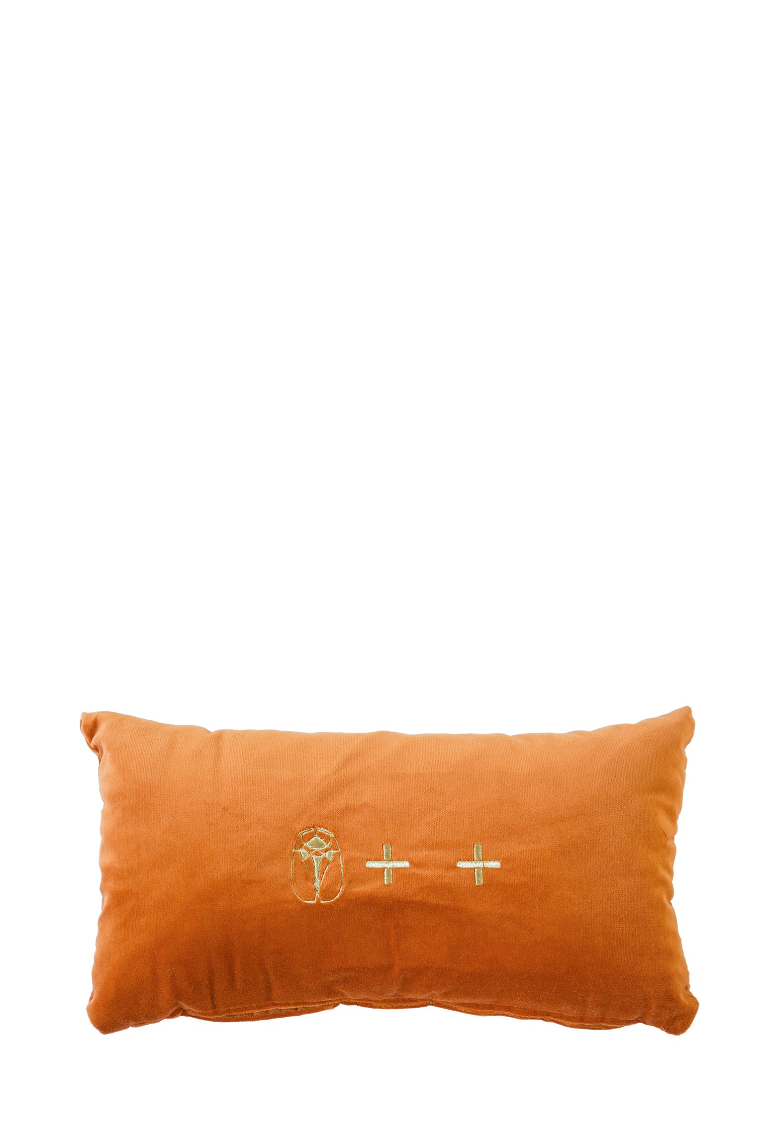 Velvet Cushion - Ochre Small