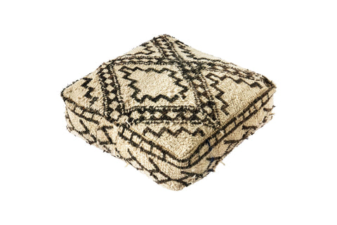 Vintage Moroccan Beni Ourain Floor Cushion