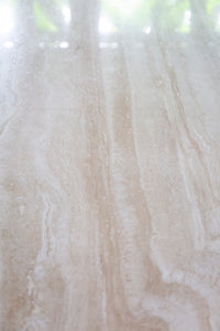 Oblong Travertine Dining Table
