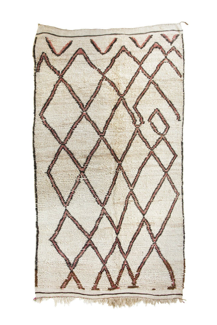 Vintage Beni Ourain Rug from Tigmi Trading brown pink