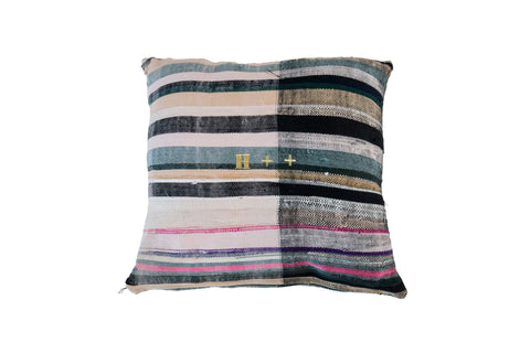 Vintage Moroccan Blanket Cushion