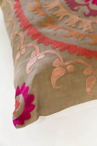Songbird Suzani Cushion