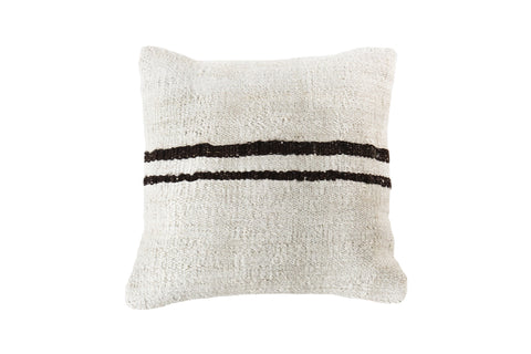 Turkish Kilim Cushion Ivory Chocolate Brown