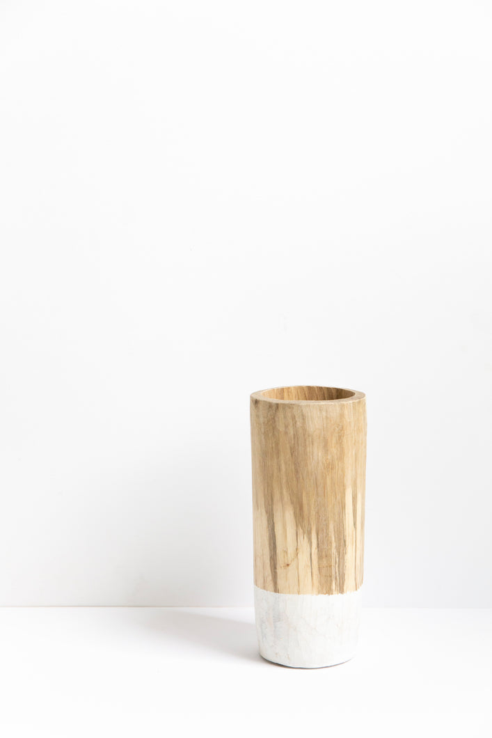 Walnut Jar - White 25cm