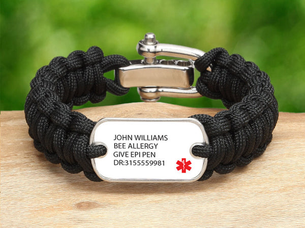Active Edge™ Regular Custom Medical Alert Bracelet