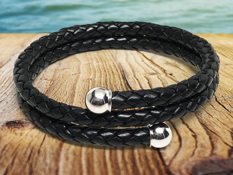 Active Edge™ Leather Wrap Bracelet