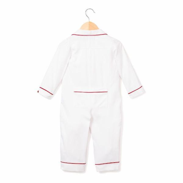White with Red Piping Romper (Infants)