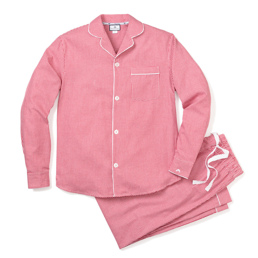 Red Gingham Pajama Set (Adult)
