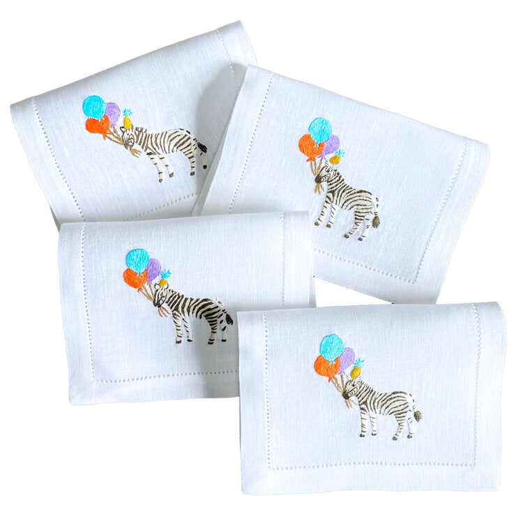 Party Zebra Fold-over Cocktail Napkins