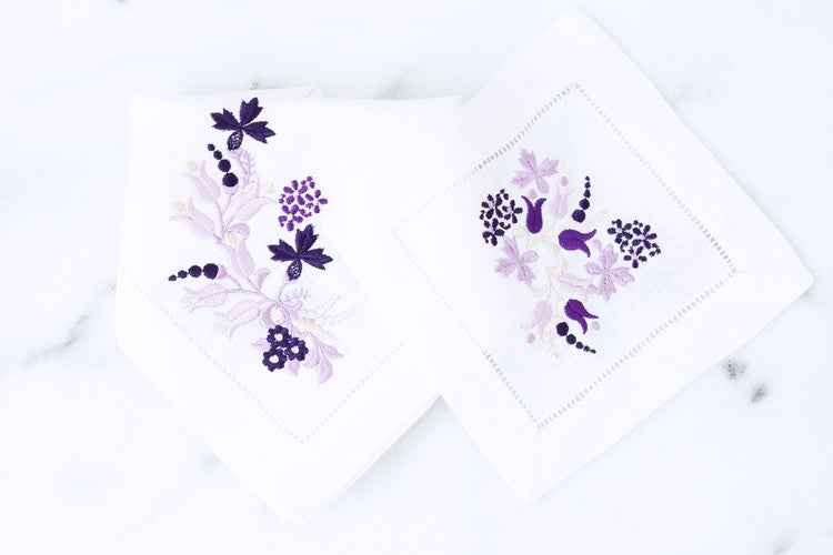 Floral (Purple) Cocktail Napkins