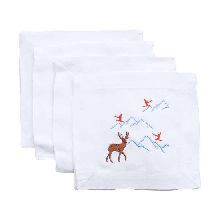 Skiers and Slopes Cocktail Napkins