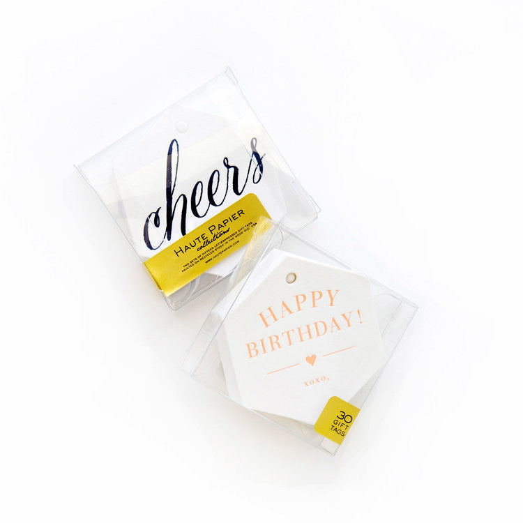 Cheers & Happy Birthday Gift Tags