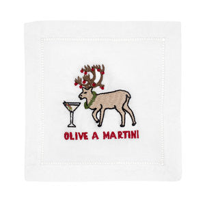 Olive A Martini Cocktail Napkins