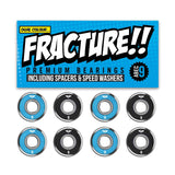 Fracture Premium Abec 9 Blue/Black Bearings