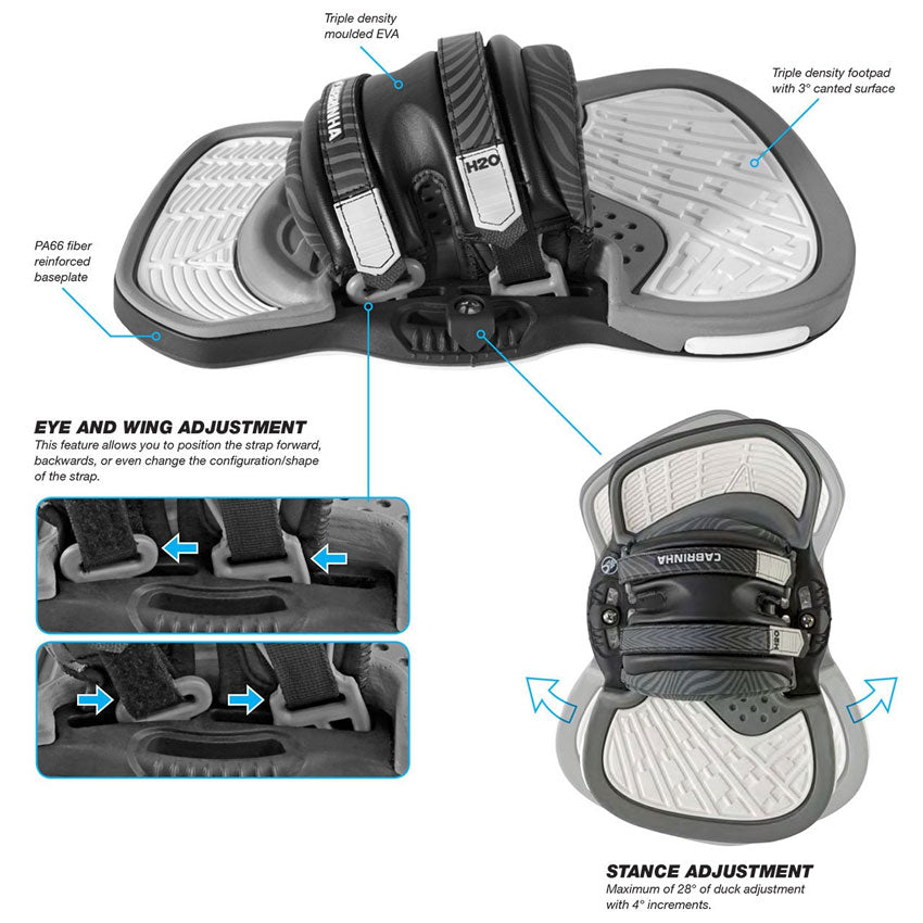 Cabrinha H2O Bindings Footstraps - 2019