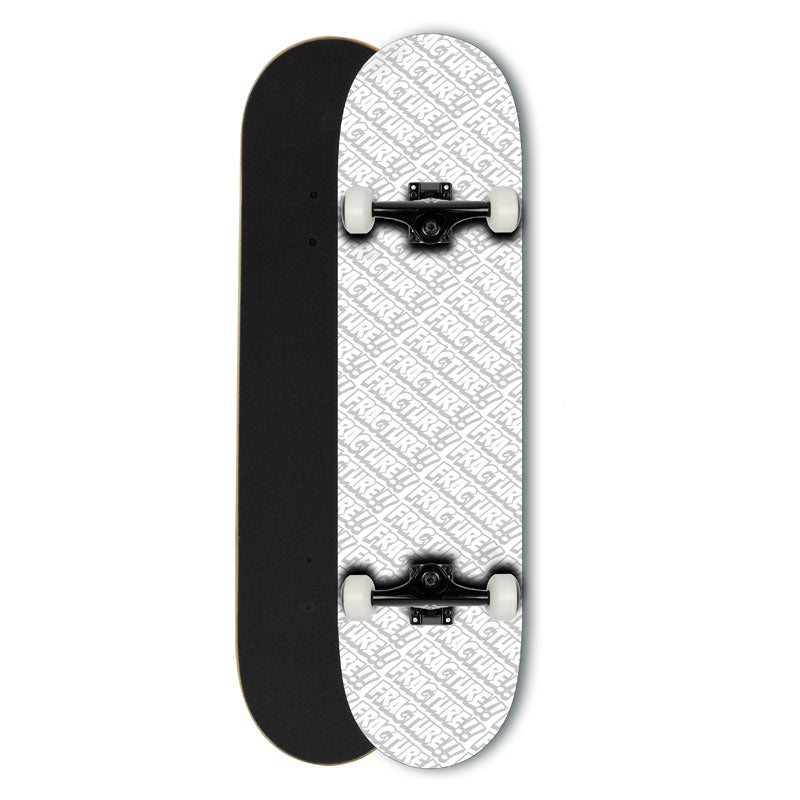 Fracture All Over Comic White Complete 8.0 Skateboard
