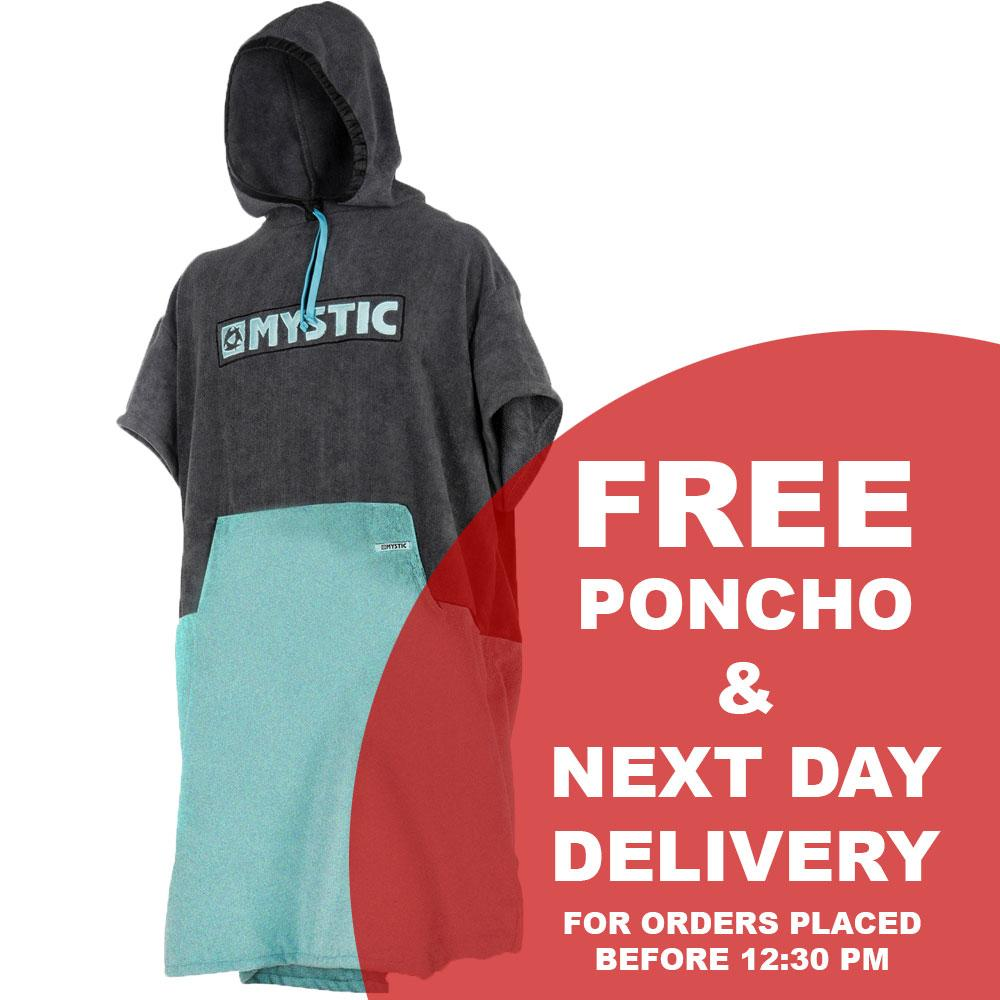 Mystic Majestic Wetsuit 5/3 Back Zip 2019 - Free Poncho