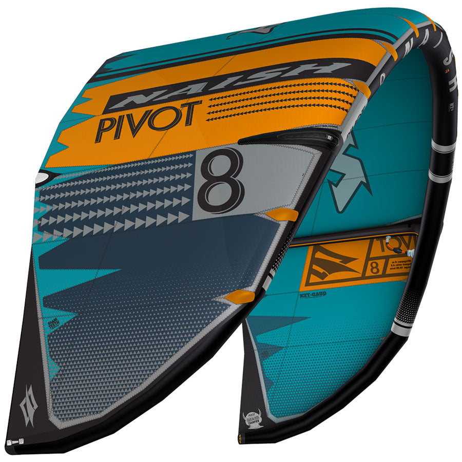 Naish Pivot 2020 Kitesurfing Kite Teal - Orange
