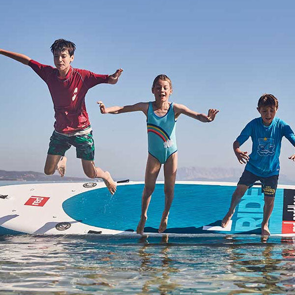 "Red Paddle Ride L 14' x 48"" with 4 Paddles - Family SUP"